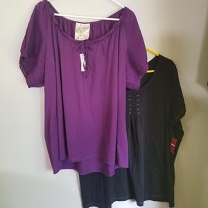 Plus size top lot. Two nwt tops